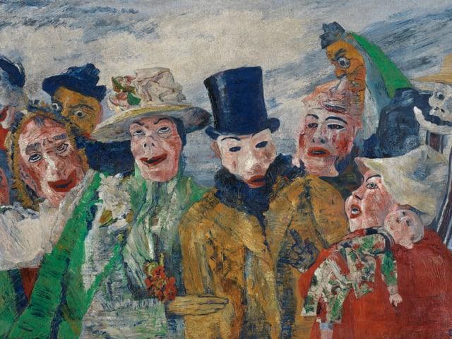 Festliche Gesellschaft, 1890, allesamt mit Tiermasken.
