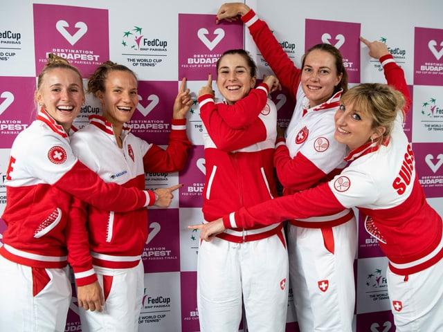 Die Schweizer Fed-Cup-Mannschaft