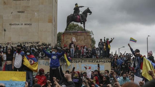 Proteste in Kolumbien.
