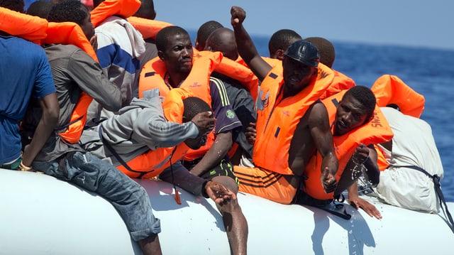 Flüchtlingsboot.