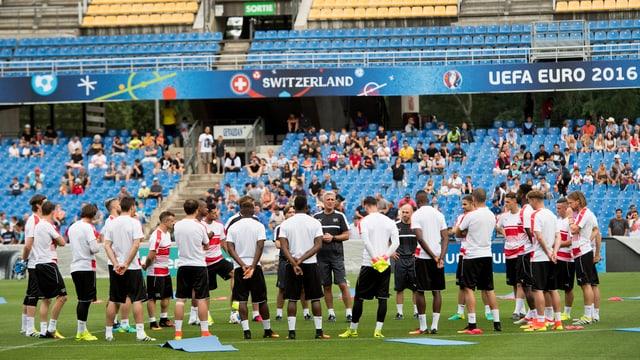 Die Nati trainiert erstmals im Stadion von Montpellier.