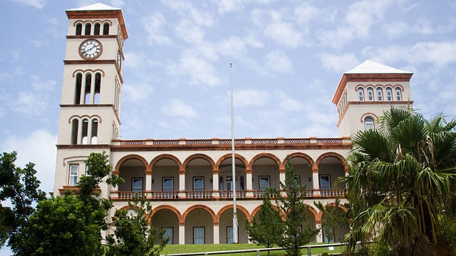 Das Gerichtsgebäude in Bermudas.