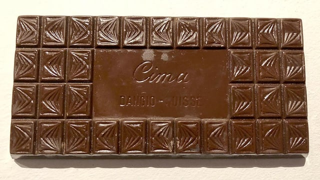 Tafel Schokolade mit Schriftzug Cima