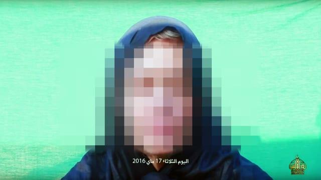 Ausschnitt aus Youtube-Video mit Bild von entführter Frau.