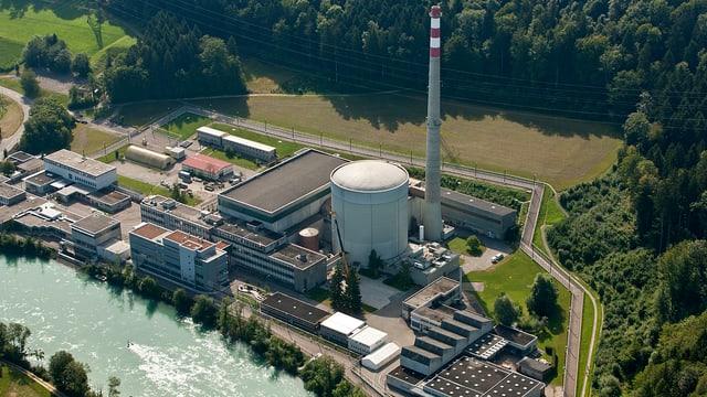 Luftaufnahme des AKW Mühleberg.
