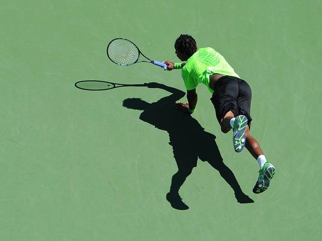 Gaël Monfils hechtet auch an den US Open spektakulär nach den Bällen.