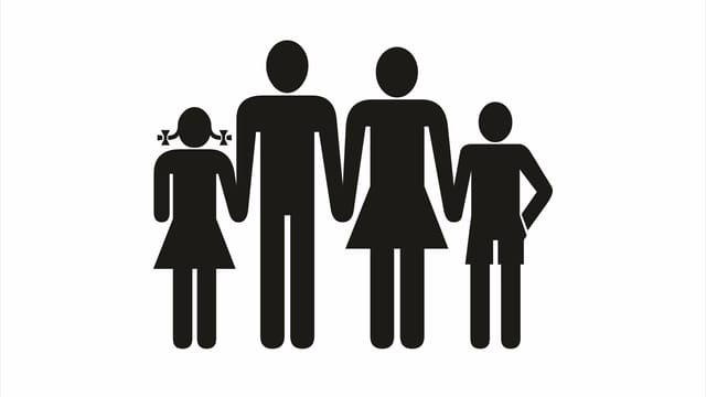 Illustration einer Familie