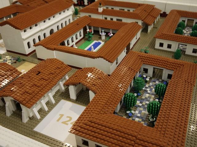 Siedlung aus Legosteinen