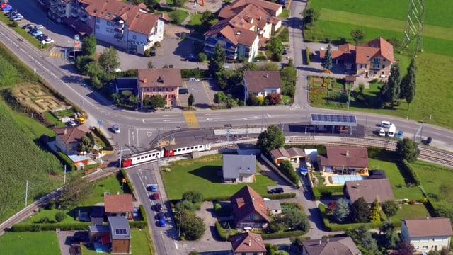 Der neugestaltete Bahnhof Bossonnens.
