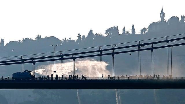 Zweite Bosporusbrücke am 15 Juli 2016 in Istanbul.