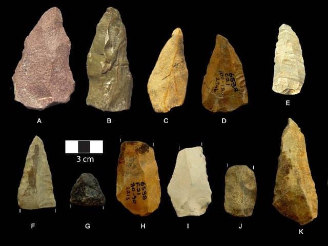 500'000 Jahre alte Speerspitzen