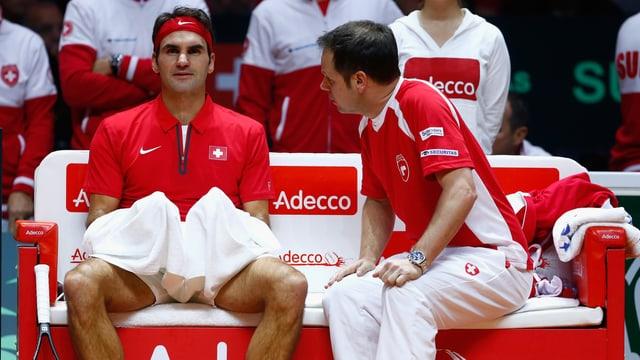 Roger Federer und Severin Lüthi.
