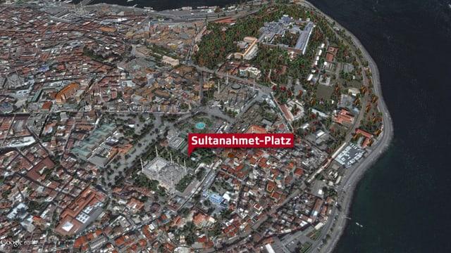 Kartenansicht des Anschlags-Ortes
