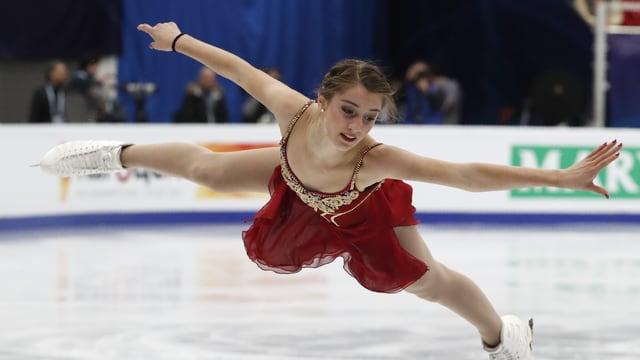 Alexia Paganini verbesserte sich um 2 Plätze.