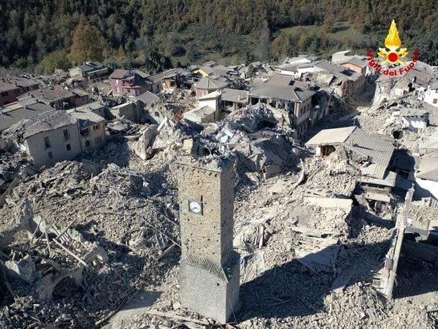 Verwüstungen nach dem Beben in Amatrice.