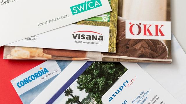 Broschuras da differentas cassas da malsauns sin maisa