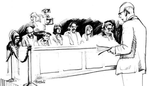 Marc Spescha spricht vor den Geschworenen.