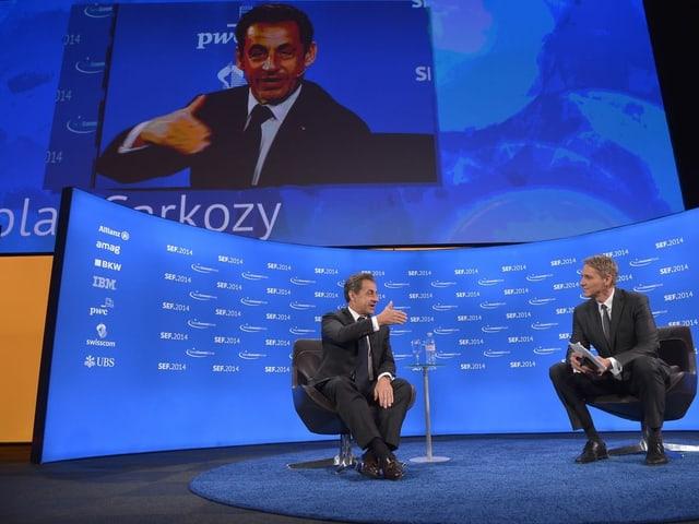 Nicolas Sarkozy am SEF 2014.