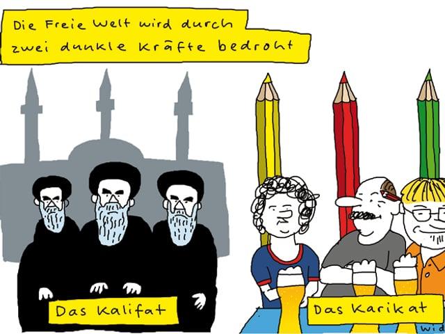 Cartoon von Ruedi Widmer