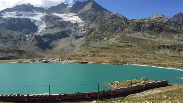 Blick ins Bernina-Massiv Mitte September.