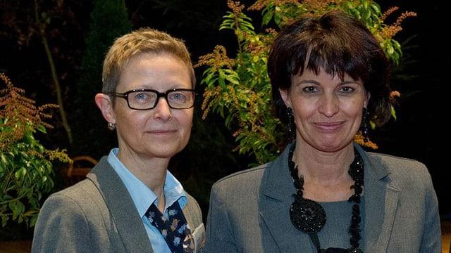 Monika Lüthi und Bundesrätin Doris Leuthard.