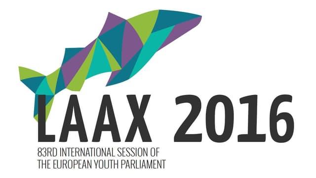 Il logo da la sessisun dal parlament europeic da giuventetgna a Laax.