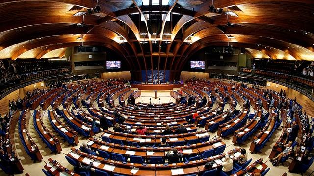 Der Saal des Europarates, fotografiert in einer Totalen.