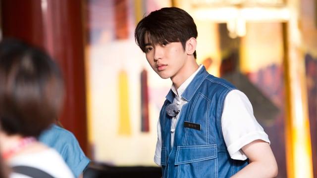 Ein chinesischer Junge mit Babyface.