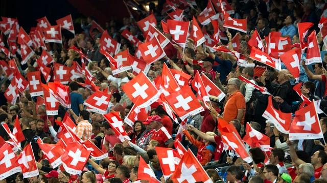 Schweizer Fahnenmeer