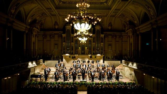 Das Aargauer Symphonie Orchesters an einem Konzert in der Tonhalle Zürich.