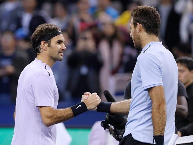 Federer gewann den Basel-Final 2017 gegen Del Potro.