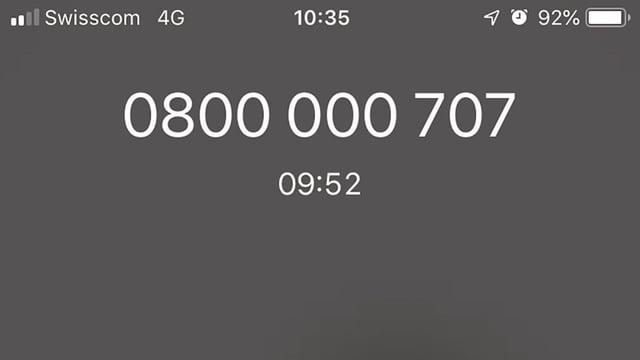 Anruf 0800er Nummer