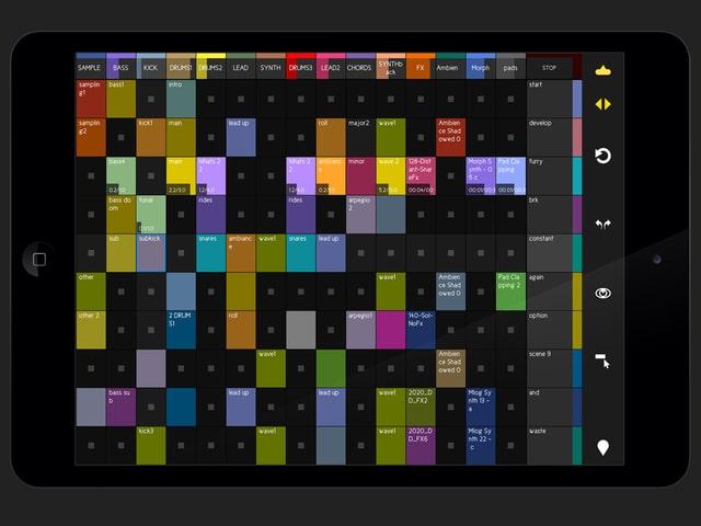 Ein Screenshot zeigt die «Session View» der «touchAble»-App.