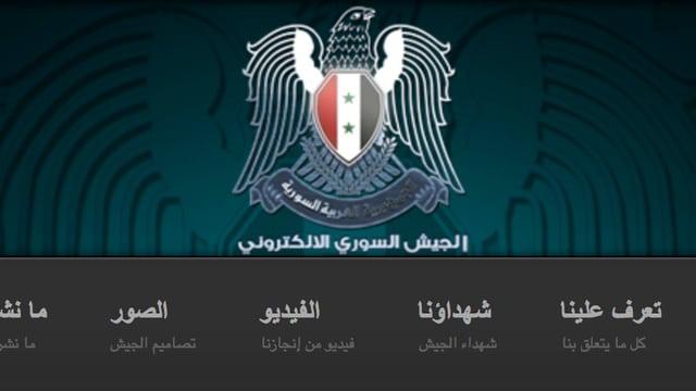 Eine Illustration eines Adlers mit Syrischer Flagge auf dem Rücken auf dunklem Hintergund.