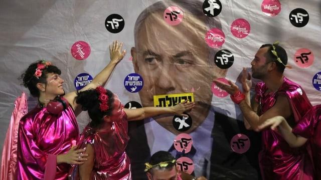 Demonstranten feiern in Israel bereits Ablösung von Netanjahu