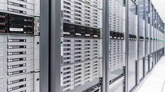 Serverraum am CERN in Genf.