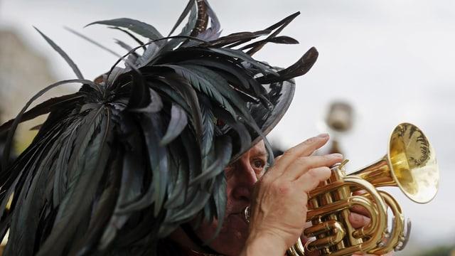 Bersagliere beim Trompeten