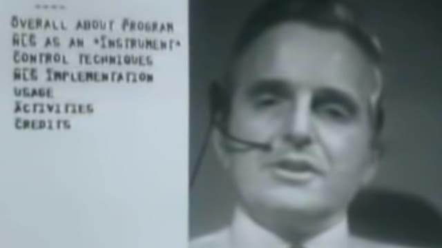 Ein Standbild aus Douglas Engelbarts Präsentation von 1968.