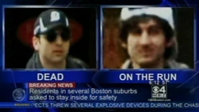 Fernseh-Standbild der Verdächtigen