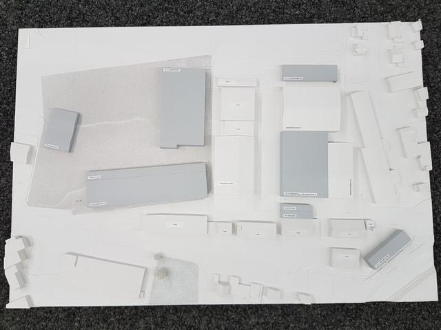 Modell der Überbauung.