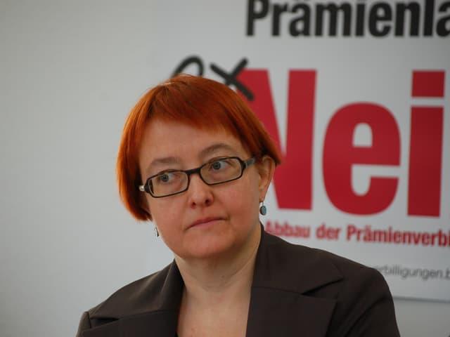 Nathalie Imboden, grüne Berner Grossrätin und Co-Präsidentin des Referendumskomitees gegen den Abbau bei den Prämienverbilligungen.