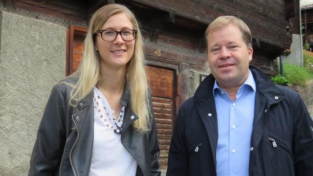 Nadja Jeitziner und Pierre-Alain Grichting.