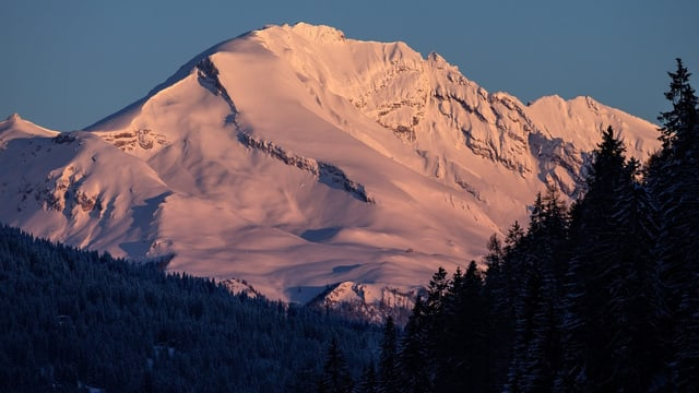 Rosiger Berg Calanda.