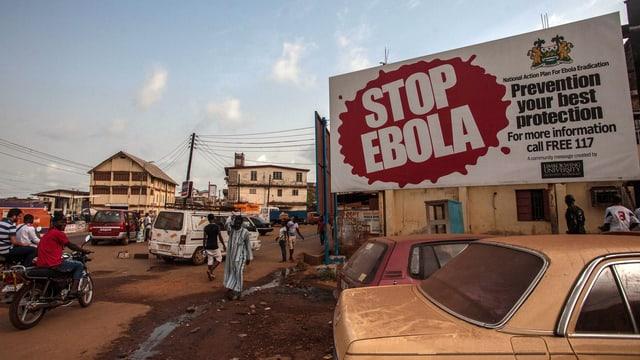 Der Ebola-Ausbruch 2014/2015 betraf hauptsächlich die Länder Guinea, Liberia und Sierra Leone.