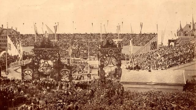 L'arena da festa il 1865.