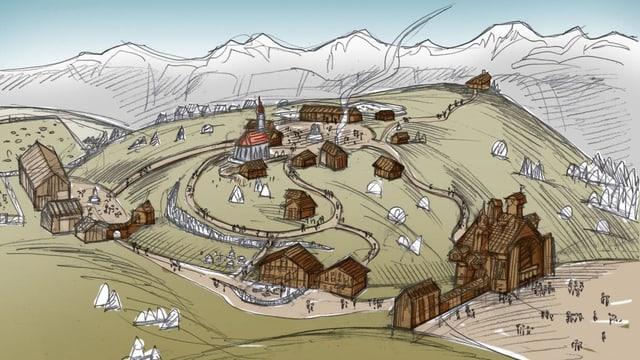 Visualisierung des Erlebnisparks auf den Flumserbergen