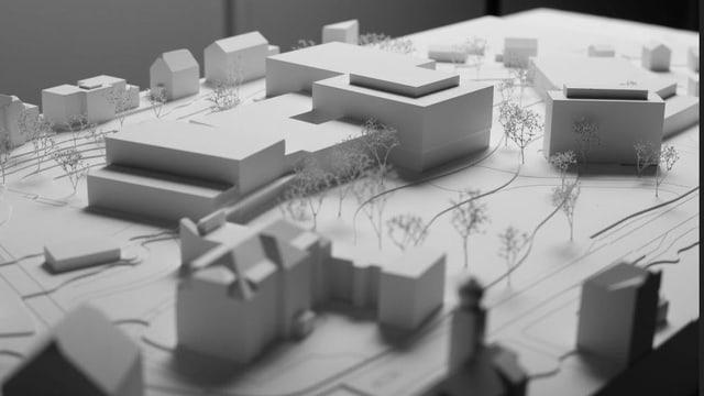 Modell des neuen Kantonsspital Uri.