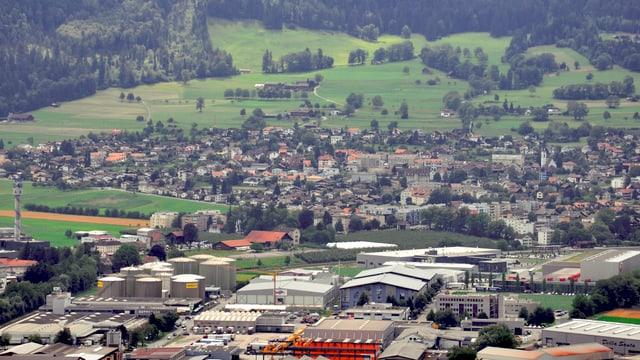 La zona d'industria da Landquart ed Igis.