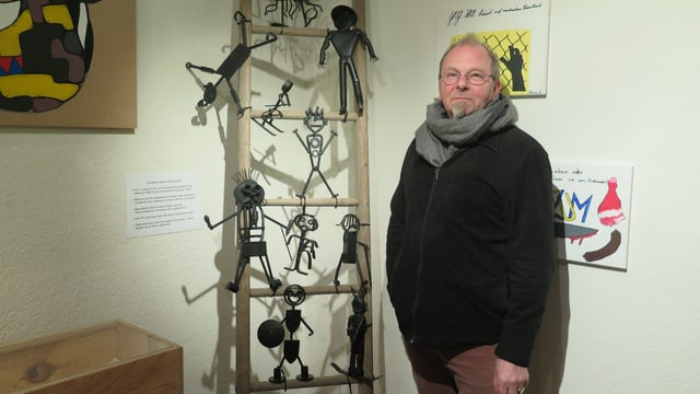 Der Konservator des Museums Michel Spiess
