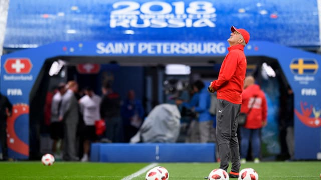Coach Vladimir Petkovic im Stadion